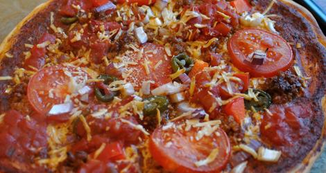 Färdiggräddad pizza