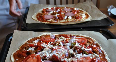 Ogräddade pizzor