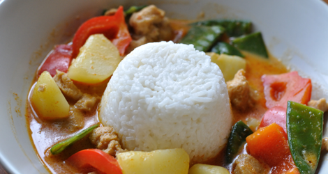 Currygryta med kokosris