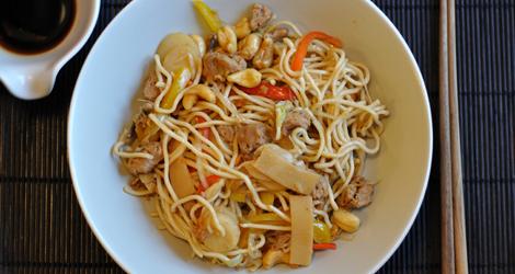 Färdig teriyaki-wok