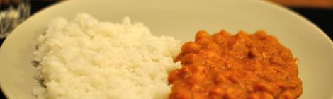 Kikärtsgryta med ris