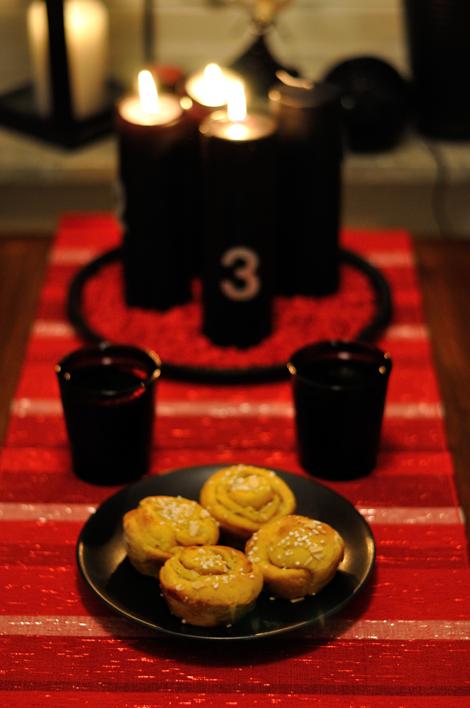 Saffransbullar med julmust