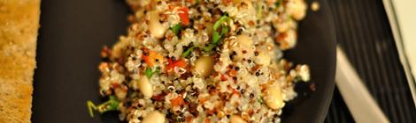 Quinoasallad med soyabönor
