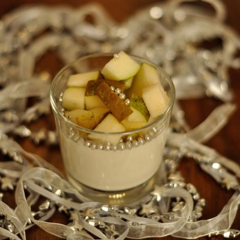 Pannacotta med ingefära och päron