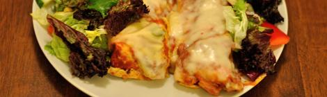 Enchiladas med grönsallad