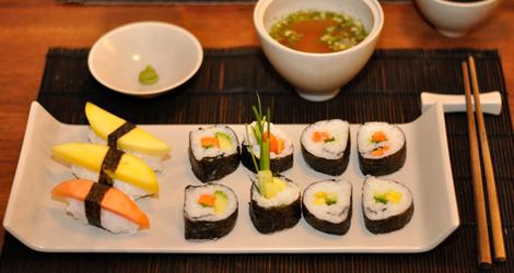 Sushi, misosoppa & en klick wasabi