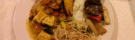 Lunchbuffé från Loving Hut
