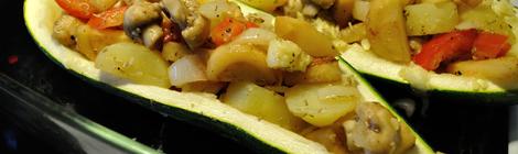 Fylld zucchini