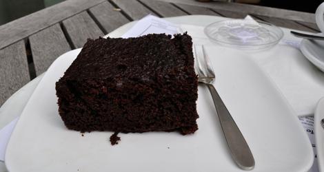 Choklad brownie från FBI Eatery