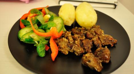 Seitan med vitlök och paprika