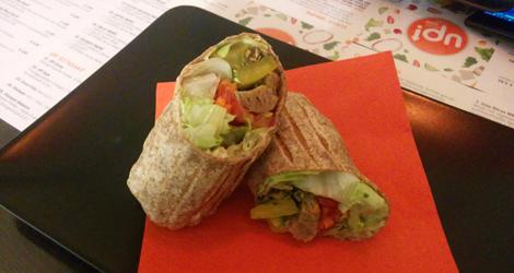 Wrap med soyastrips